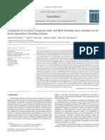 Comparison of Accuracy of Genome-wide and BLUP Breeding Value Estimates in Sib