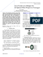 Estimation of Link Loss Budget for Transmission with Optical Fiber Project in Yaesagyo
