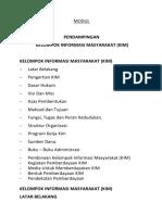 Modul Pendampingan KIM 2019
