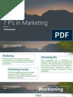 7 P's in Marketing