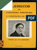 CARNEIRO,Mário de Sá,1890-1916_A Confissão de Lúcio _ Mário de Sá-Carneiro