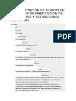 Interpretación de Planos en Procesos de Fabricación de Calderería y Estructuras Metálicas