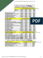 Tabela de Preços Para Eletricistas 2019 Engehall _ Equipamento Elétrico _ Segurança
