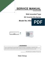 Haier Forward Series Service Manual HSU09VHJ