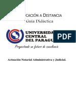 Actuación Notarial Administrativa y Judicial - Trabajo Práctico N° 1