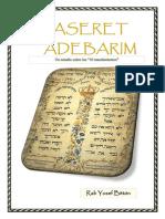 Sobre Aseret Adibrot --Los 10 Mandamientos