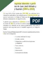 Principales Conquistas Laborales a Partir de Los Gobiernos de Juan Jóse Arévalo y Jacovo Arbenz Guzman