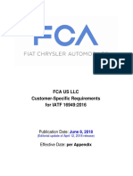 FCA US LLC Customer Specific Requirements for IATF 16949 June 8 2018
