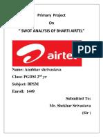 Bharti Airtel Swot