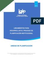 Lineamientos Planificacion Institucional 2015 Oct2015 (2) (1)