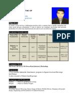 Sajib Ahamad Updated Curriculum Vitae