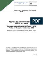 MIPG Politica de Administracion Riesgo 2018 Biblioteca Pública Piloto