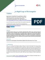 Reactions on Rigid Legs of Rectangular