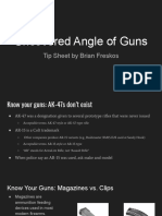 Uncovering Angle of Guns IRE19