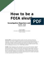 FOI Workshop Handouts