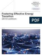WEF Fostering Effective Energy Transition 2019