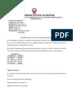 1. Algebra Relacional en Base de Datos