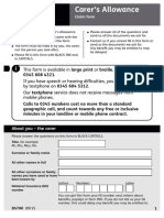 Ds700 Carers Allowance Form