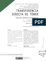 Transferencia directa de toner