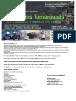 The Global Shutdown, Turnaround, Inspection & Maintenance Forum 28th-29th of November 2019 in Amsterdam, The Netherlands