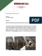 Informe de Avance de Construccion de Cerchas Cic