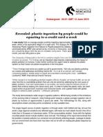 Dieta Plástica press release