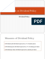 Session on Dividend Policy