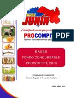 Bases Fondo Consursable PROCOMPITE 2019