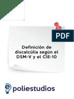 Definición de Discalcúlia Según El DSM-V y El CIE-10