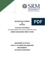 Bsc Physics Curriculum and Syllabus Cbcs