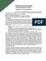 Yunier Soca Hernández. Resumen Tema Doctoral