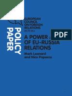 Ecfr - A power audit of eu-russia relations