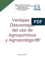 Ventajas y Desventajas de Los Agroquímicos