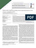 Adaptive Under-Voltage Load Shedding Scheme Using Model Predictive Control