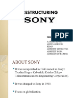 Sony Restructuring