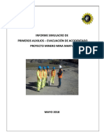 Informe Simulacro de Primeros Auxilios