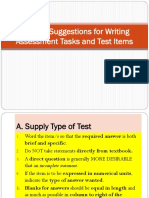 Let Review - 3 -Assessement - Procedures for Types of Tests - Multiple Choice, Essay, Etc