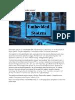 Embedded Systems in school