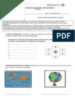 Prueba 3º Tipos de Mapas y Representaciones de La Tierra (1)