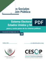 Sistema Electoral de Estados Unidos y Mexico
