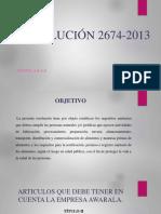 Resolución 2674 2013 Presentación