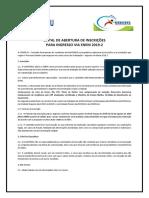 Regulamento Abertura Inscricoes Enem 20192