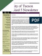 Ward 5 Councilmember Richard Fimbres Newsletter - June 2019