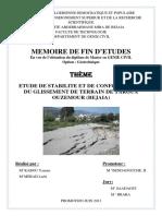 Etude de Stabilite Et de Confortement Du Glissement de Terrain de Targua Ouzemour Beja