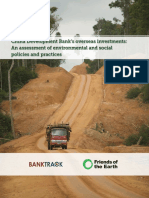 China Development Banks Overseas Investments - An Assessment of Environmental and Social Policies and Practices
