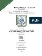 Esudio Geografico y Socultutral de Las Capitales de Las 5 Regiones Amazonicas