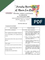 Jornadas María Eva Rossi - Segunda Circular - 13 y 14 de Junio 2019