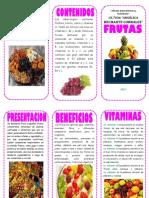 Triptico de La Fruta