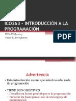 Ico263 – Introducción a La Programación