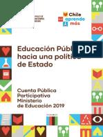 Cuenta Publica Mineduc 2019